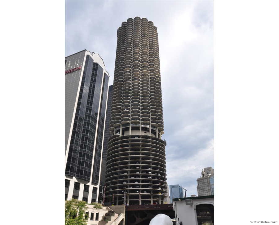 Then it's back the way we came: here's Marina City again...