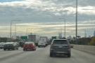 Being driven into Chicago is a rare treat for me. Here's my first view of the skyline...