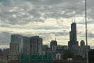 This being America, the freeway takes you right into the city centre...