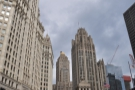 ... and the Wrigley Building, with the Tribune Tower across the way.