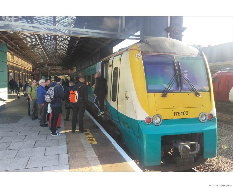 ... where my final train, from Arriva Trains Wales, was waiting to take me to Flint.