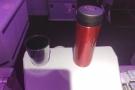 I got my usual exit row seat, where I had my pre-prepared coffee.