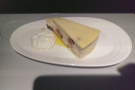... and a short while later, this very fine cheesecake arrived, on a proper plate, no less!