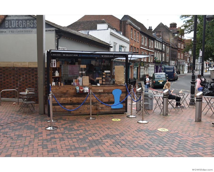The Tamp Culture kiosk, in its usual spot behind the Oracle shopping complex in Reading.