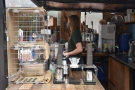 The filter part of Tamp is down the right-hand side of the kiosk, while visible through...