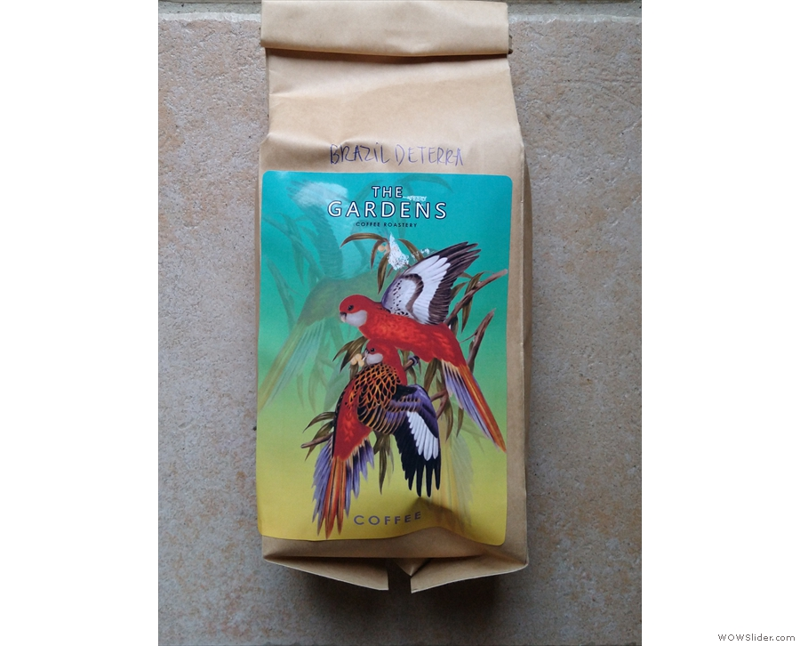 Finally, I took a bag of the coffee of the week, the Brzail Daterra, home with me!