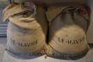 Obligatory coffee sacks for decoration...