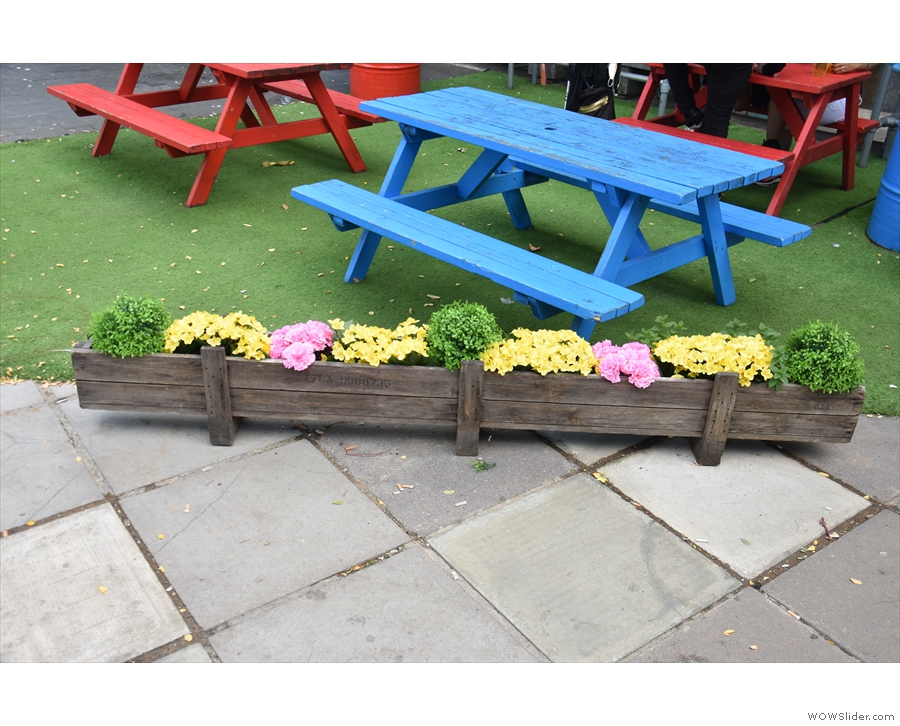 ... they've just been re-purposed as flower boxes (having previously been missle boxes).