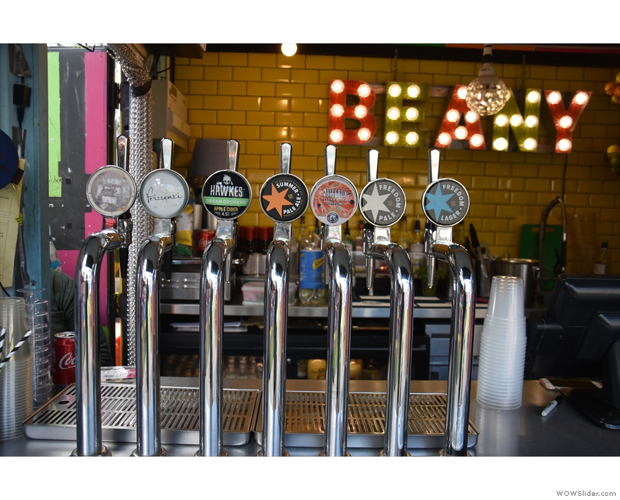 ... while you can also see some of what's on by looking at the beer taps to the left.