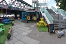 A welcome sight on the South Bank, at the foot of the Hungerford Bridge.