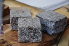 All the cakes had gone when I arrived, but here are some Lamingtons from a previous viist.