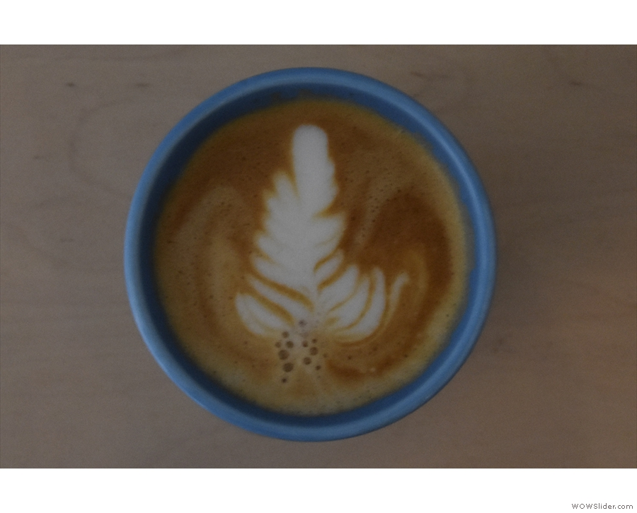 I'll leave you with a shot of the latte art.