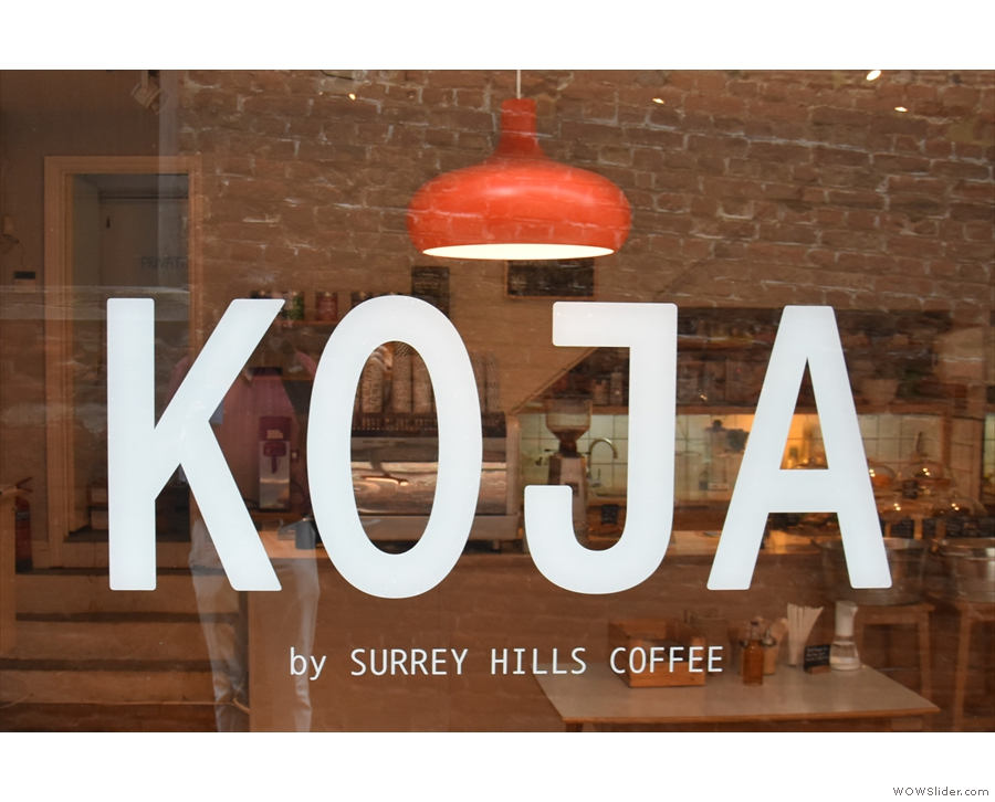 Only there's a new name on the window: Koja! It's Surrey Hills, but not quite as we know it.