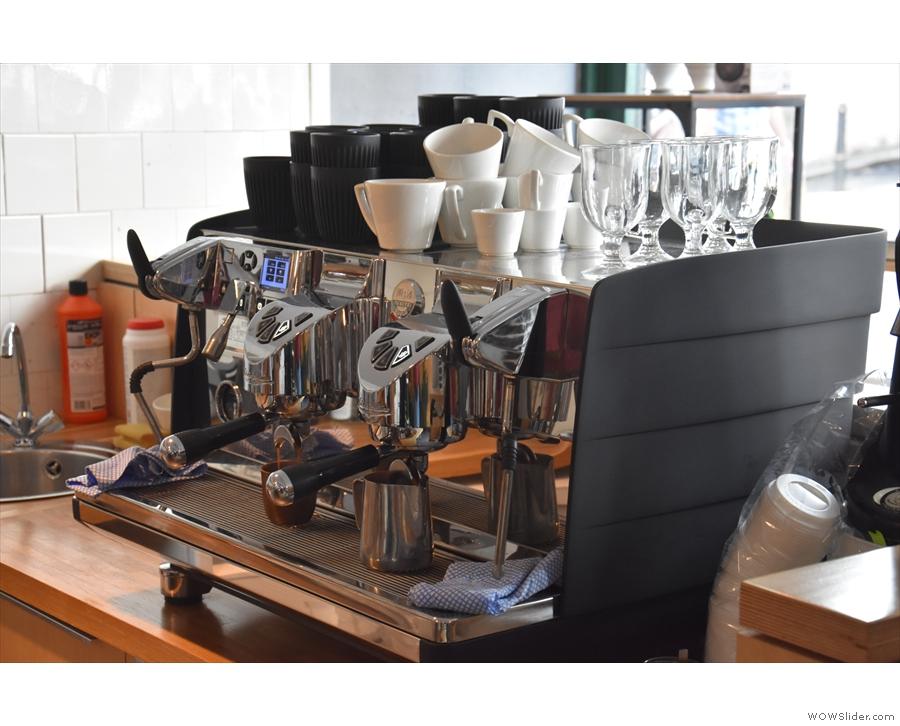 ... although pride of place still goes to the Victoria Arduino White Eagle espresso machine.