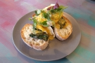 ... for lunch (Eggs Florentine)...