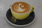 And, of course, there was coffee, served in a proper cup with some lovely latte art.