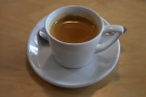 ... where I had the house blend as an espresso, also served in a proper cup.