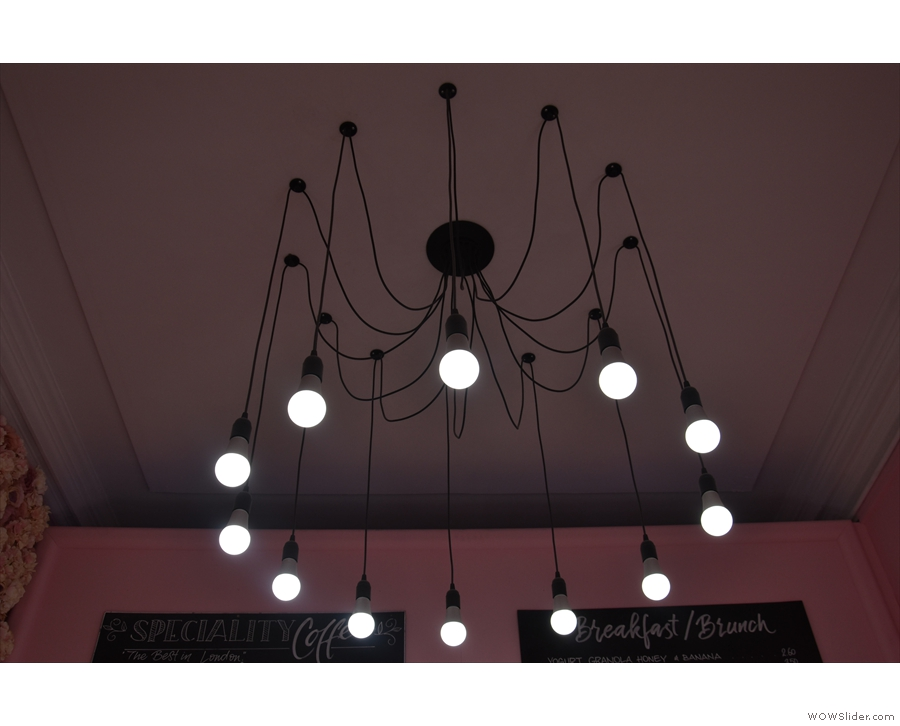 ... as is the amazing light-fitting that fascinated me when I visited last year...