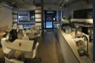 The view from the back, putting the seating and the counter into context.