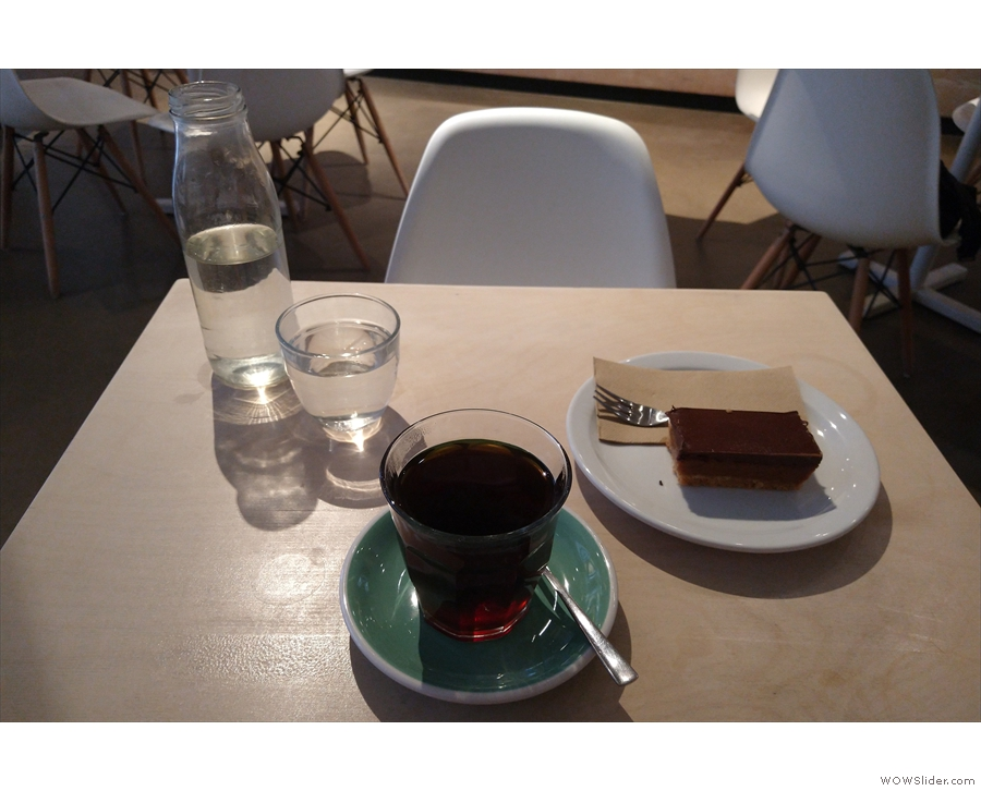 Talking of which, that's exactly what I had, prepared in the V60 and served in a glass.