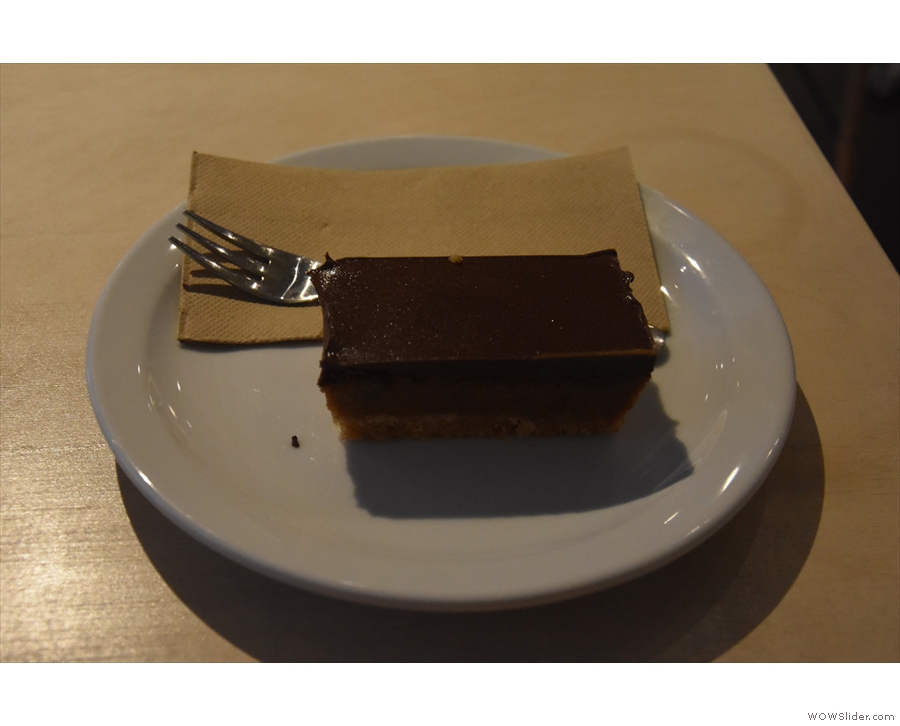 ... this lovely chocolate and caramel slice, which is where I'll leave you.