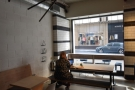 ... is much more widely spaced, although there is a new table by the right-hand window...