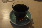 With apologies for the rather dim lighting, here's my coffee, which I paired with...