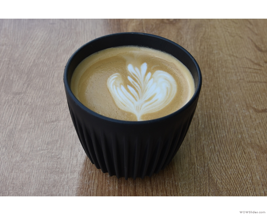 ... a flat white, which the staff were happy to make in my HuskeeCup.