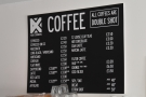 Talking of which, Four Corners is still serving its full coffee menu...