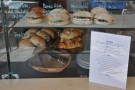There's always a good selection of sandwiches on display, plus more on the food menu...