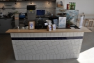 The beautiful, tiled counter is a mine of information.