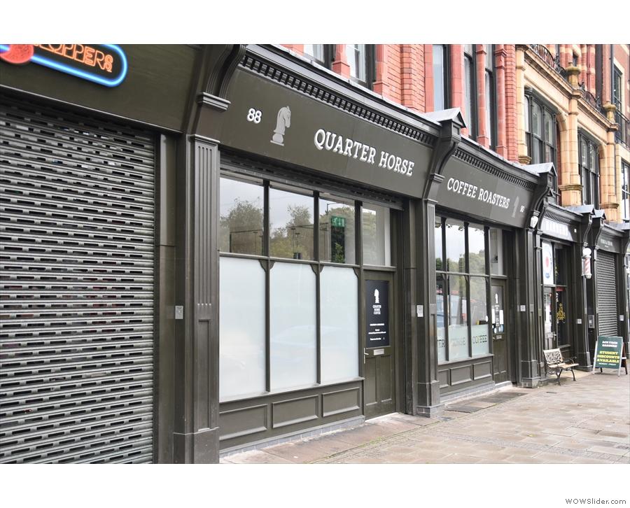 Quarter Horse Coffee Roasters on Bristol Street, Birmingham in August 2020...