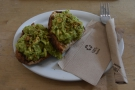 My avocado toast, which was excellent.