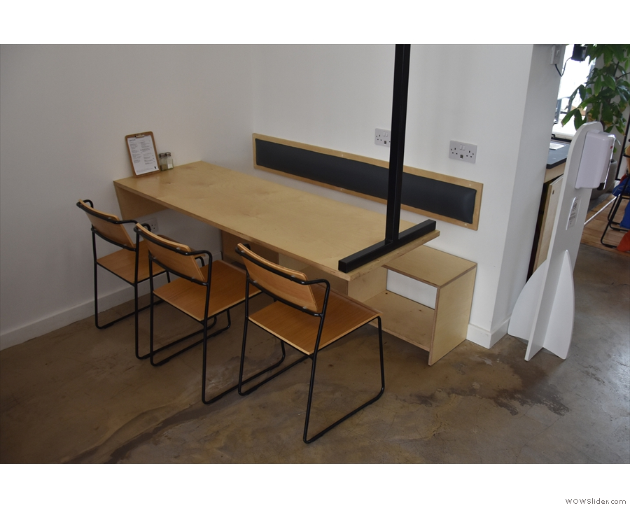 It's home to two of these six-person tables which seem to be suspended from the ceiling!