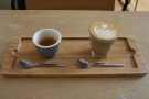 ... and this beauitfully presented espresso flight, made with the Roan Blend...