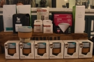 ... and more coffee, plus KeepCups and coffee-making kit on the right.