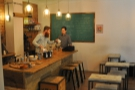 This is how it used to look, back in the day, with the cakes and pour-over set up.