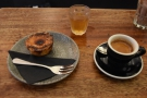 I came for afternoon coffee and cake, all beautifully presented.
