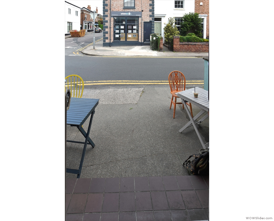There's more seating outside, accessed via the door onto Westminster Road...