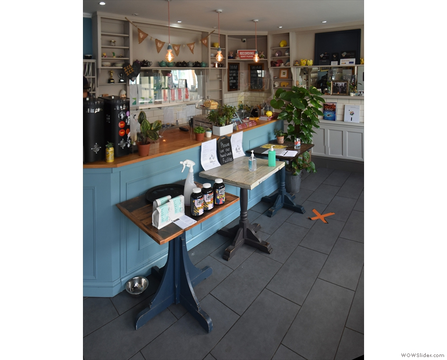 When you are called in, you are greeted by the counter, protected by tables and Perspex.