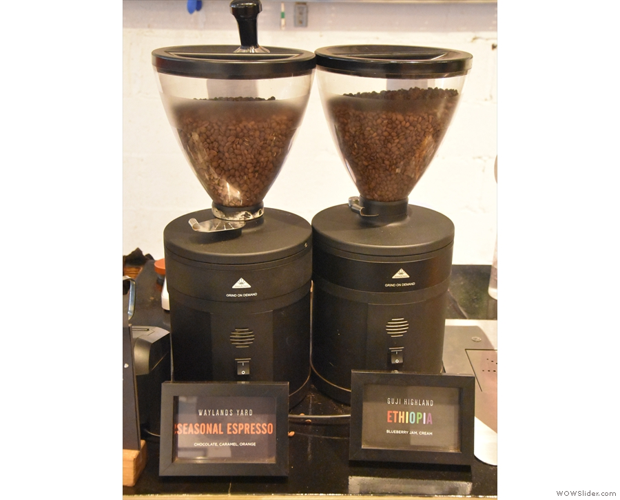 ... one for the house blend and one for the monthly single-origin.