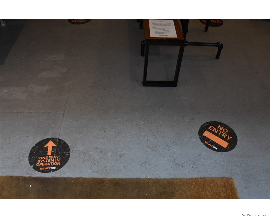 Another change is the COVID-19 one-way system, greeting you on the floor as you enter.