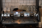 Another familiar feature is the Victoria Arduino Black Eagle espresso machine...