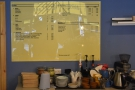 Talking of menus, this is the drinks menu, on the wall behind the counter, as seen last year.