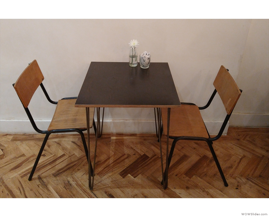 ... and one solitary two-person table.