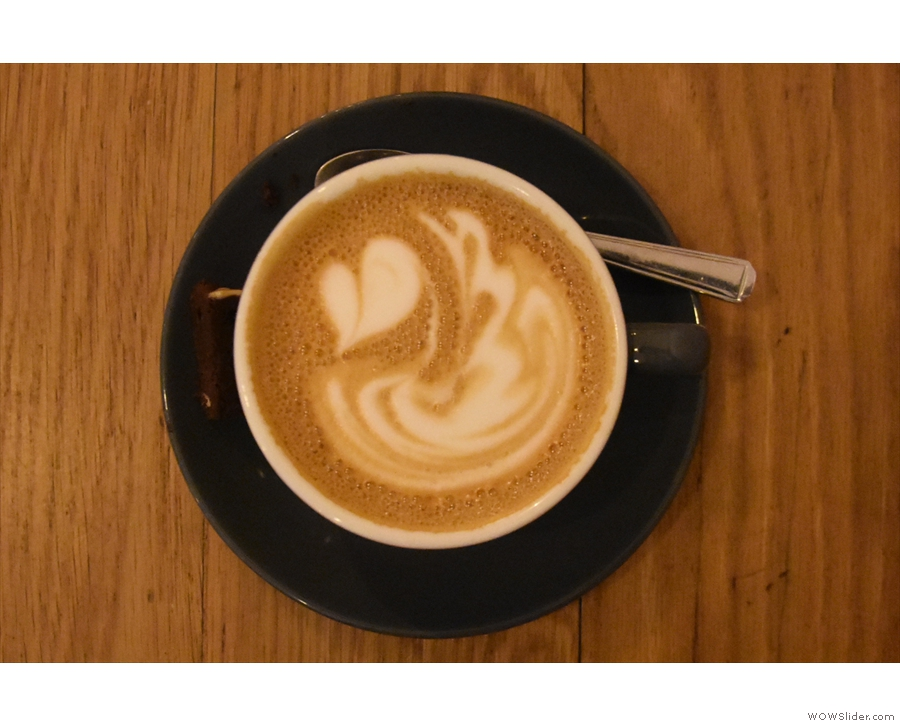 ... with some gorgeous latte art, which is where I'll leave you.