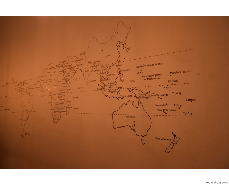 As well as the temporary exhibitions, this map of the world's coffee growing regions...