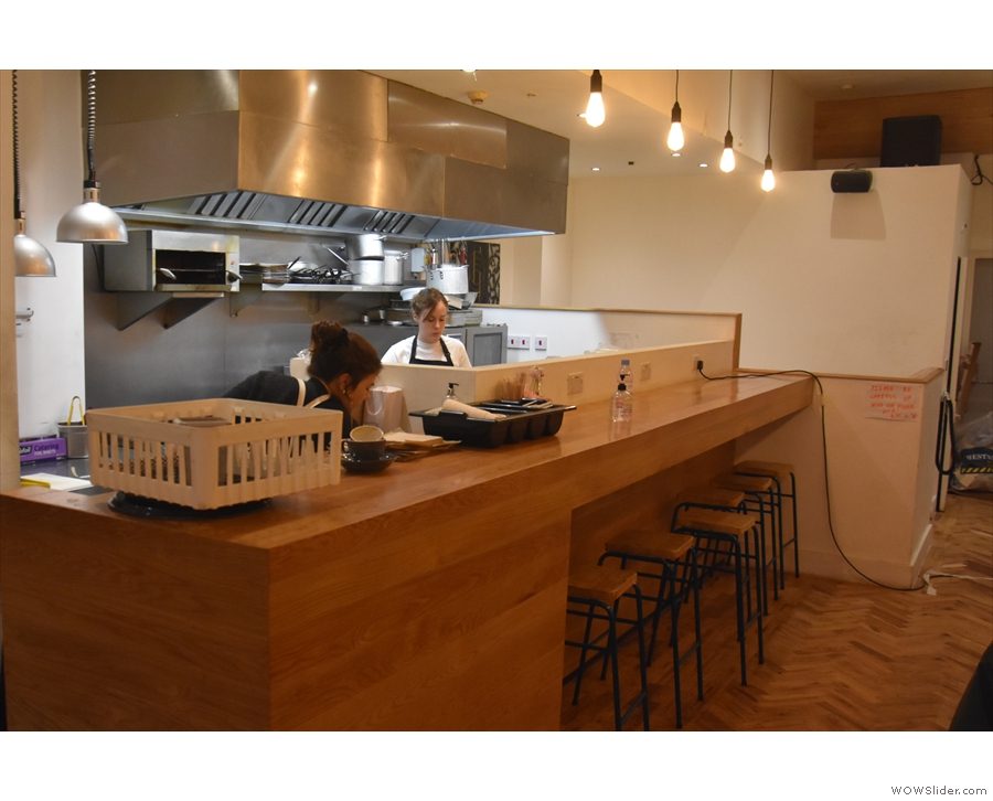 ... effectively an extension of the counter, complete with under-counter seating.
