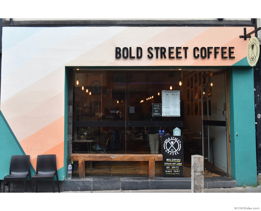 Bold Street Coffee, back on Liverpool's Bold Street...