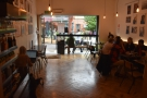Stepping inside, here's a view of the front part of Bold Street Coffee...